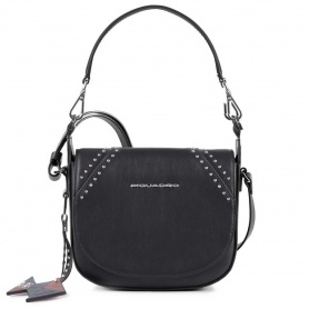 Piquadro Muse women's shoulder bag black rock small