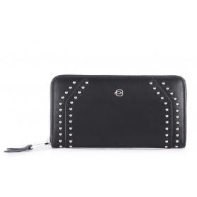 Piquadro Muse women's wallet in black rock - PD1515MUR / N2