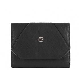 Piquadro Muse women's wallet in black - PD4145MUR / N