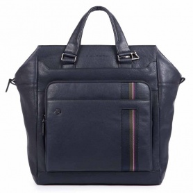 Piquadro B3S vertical bag blue - CA3982B32 / BLU3