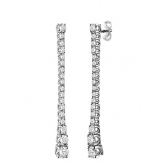 Salvini gold and diamond pendant earrings - 20077323