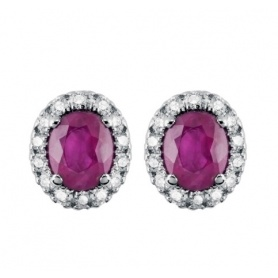 Salvini Dora earrings with diamonds and ruby lobe 20057648