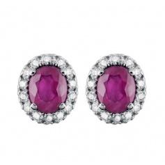 Salvini Dora earrings with diamonds and ruby lobe 20057648