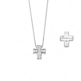 Collana Salvini Croce piccola con diamanti - 20067604