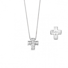 Salvini small cross necklace with diamonds - 20067604