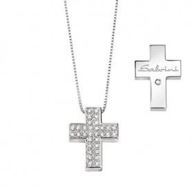 Salvini Croce Halskette Die Zeichen mit Diamanten - 20067606
