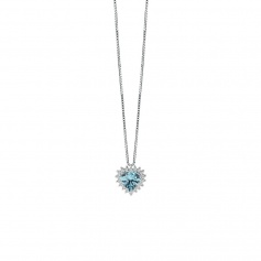 Salvini necklace with diamonds and aquamarine at heart 20077276