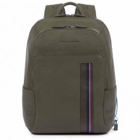 Unisex rucksack Piquadro B3S green - CA3214B3S / VE