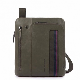 Man bag Piquadro B3S green - CA1816B3S / VE