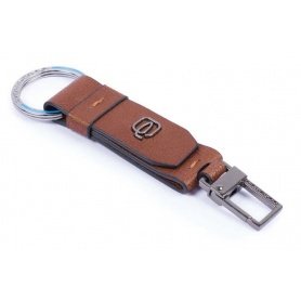 Piquadro key ring Black Square leather - PC3751B3 / CU