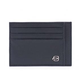 Piquadro Splash card case black / red - PP2762SPLR / NR