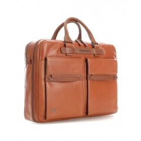 Piquadro fast-check briefcase Cube leather - CA4470W88 / CU