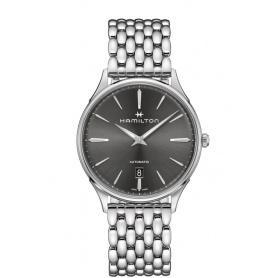 Hamilton orologio uomo Jazzmaster Thin automatico acciaio - H38525181