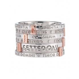 Ring TUUM SETTEDONI Silber Rhodium und Gold breites Band