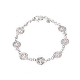 Armband SETTEDONI Kreise Silber Rhodium Kette L