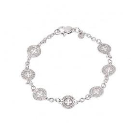 Bracelet SETTEDONI circles silver rhodium chain L