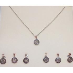 Pendente Tuum SETTEDONI argento ed oro Timor Pietas