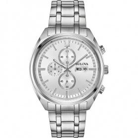 Bulova Classic Quartz Chrono steel watch - 96C135