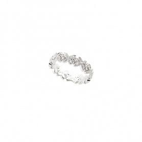 Anello fascia stretta Mimì Freevola farfalle oro bianco e diamanti