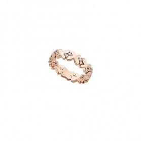 Anello fascia stretta Mimì Freevola oro rosa e diamanti farfalle