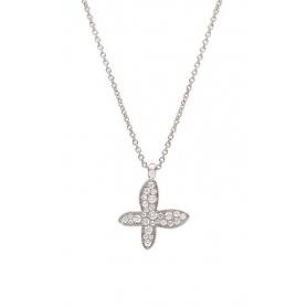 Collana  Mimì Freevola oro rosa con pendente farfalla in diamanti