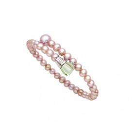 Bracciale Mimì Lollipop perle viola con prasiolite e tsavorite