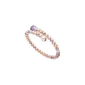 Bracciale Mimì Lollipop perle multicolor con ametista e zaffiro viola