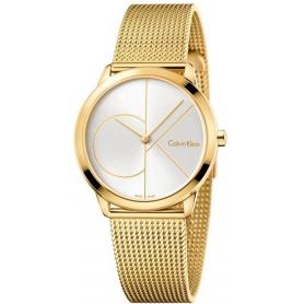 Calvin Klein Minimal Midsize PVD Watch Logo CK K3M22526