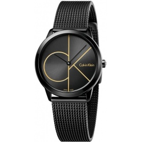 Calvin Klein Minimal Midsize PVD Watch Logo CK K3M224X1