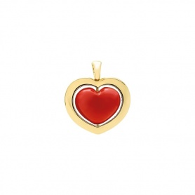 Heart pendant Romeo and Juliet gold and coral paste collection