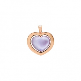 Giulietta and Romeo gold and amethyst pendant heart pendant