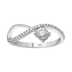 Bliss-Ring Pansiero-Kollektion aus unendlichem Solitärmodell aus Gold und Diamanten