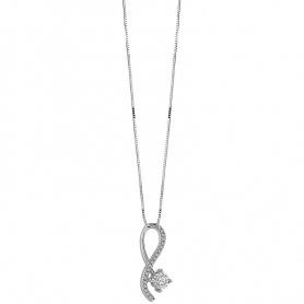 Collana donna Bliss collezione Pansiero in oro e diamanti modello infinito