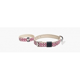Couple dog collar and armband keep me heart and flowers