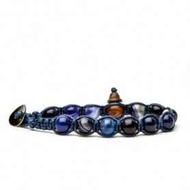 Bracciale Tamashii Agata blu notte cordino blu novità - BLUES900-216
