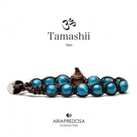 Bracciale Tamashii Agata Tibet Sky blu elettrico - BHS900-210