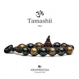 Bracciale Tamashii Ocean Stone marrone verde camuflage