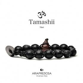 Tamashii bracelet Onyx opaque Mantra black cord novelty