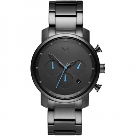 Watch MVMT Gunmetal chronograph gray black steel blue hands