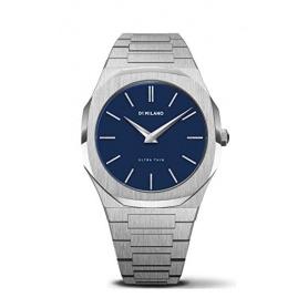 Uhr D1 Milano Linie Ultra Thin achteckig Blaues Zifferblatt