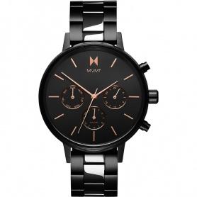 Orologio MVMT Nova Crux nero  lucido  e satinato indici rosè - FC01-BL