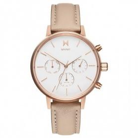 Nova Luna Chrono MVMT Uhr aus weißem Leder mit Zifferblatt - FC01-RGNU