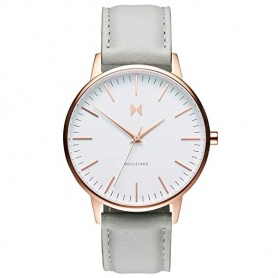 MVMT Boulevard Beverly watch in vintage wisteria gray leather