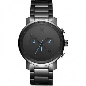Uhr MVMT Chrono Gunmetal 45mm grau-blaue Zeiger