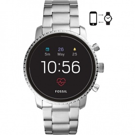 Smartwatch Fossil Gen 4 Q explorist HR polished steel