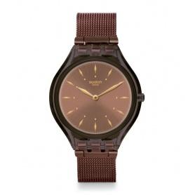 Orologio Swatch Skin Skinchoc maglia milano color cioccolato - SVOC101M
