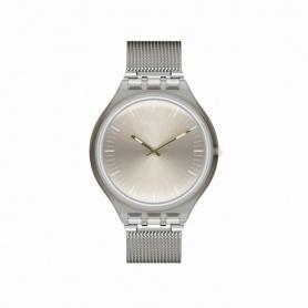 Orologio Swatch Skin Skinmesh maglia milano argento silver - SVOM100M