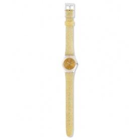 Orologio Swatch Golden Golistar Too silicone dorato glitter - LK382