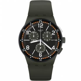 Swatch orologio k.KI verde militare crono silicone - SUSM405