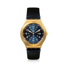 Happy Joe Golden swatch watch in gold case leather - YWG408